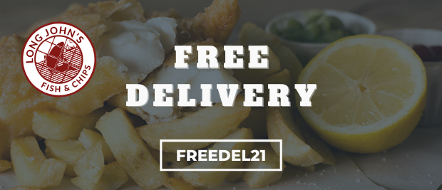 Free Delivery - Long John's Fish and Chips